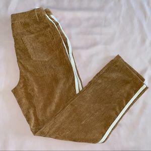 Corduroy Pants w/ Racer Stripes, M